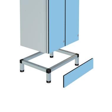 Zenbox Aluminium Locker Stand, Double Unit