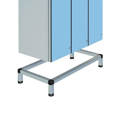 Zenbox Aluminium Locker Stand, Triple Unit