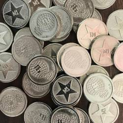 x100 Locker Tokens Old Pound Coin Size