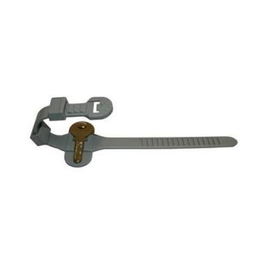 Type 1 locker wrist strap with key rivet