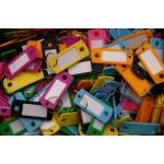 Plastic Coloured Key Tags with Split Ring