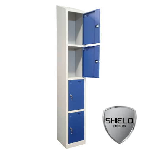 Shield Four Compartment Storage Locker - Fast Delivery